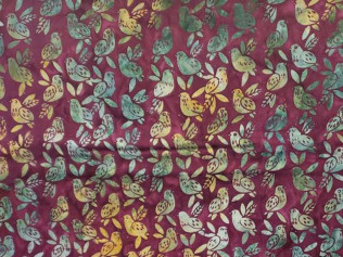 Island Batik Baby Bird Plum Birds #14350