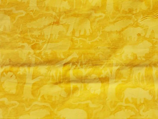 Island Batik Jungle Animals Cheddar #07150